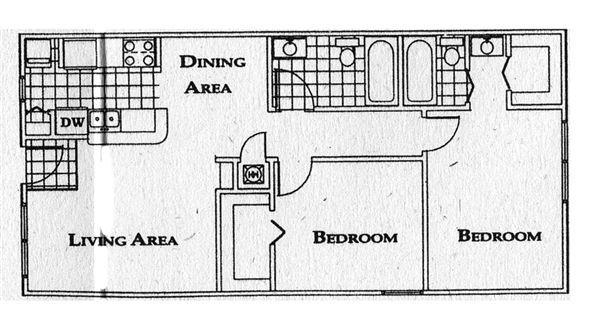 floor plan 2 br