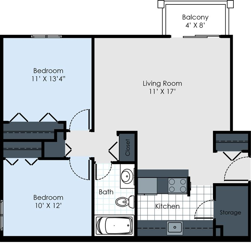 2 Bed Floor Plan-OW