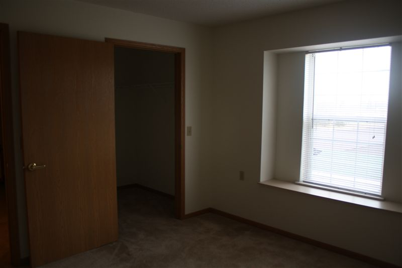 Walk in closet in Bed of Large 1 Bed Apt.