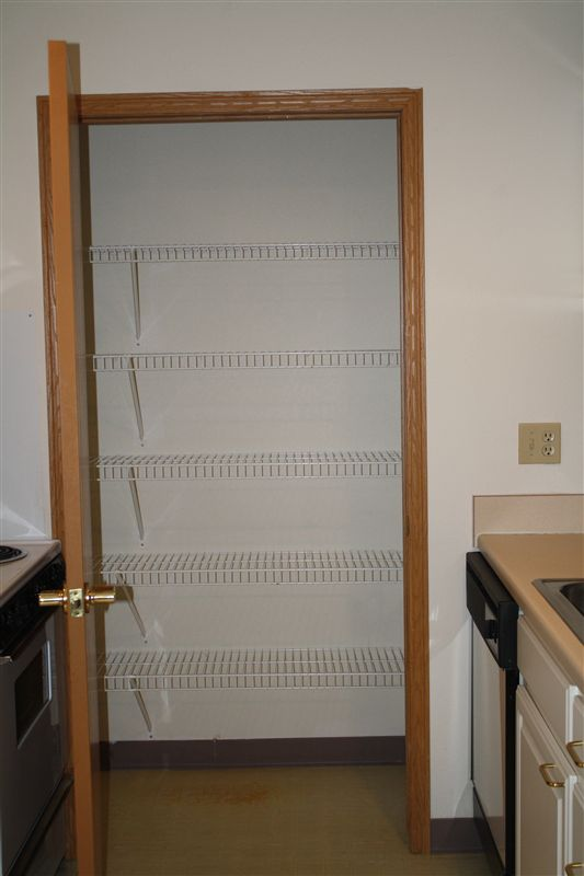 Pantry closet in Large 1 Bed Apt.