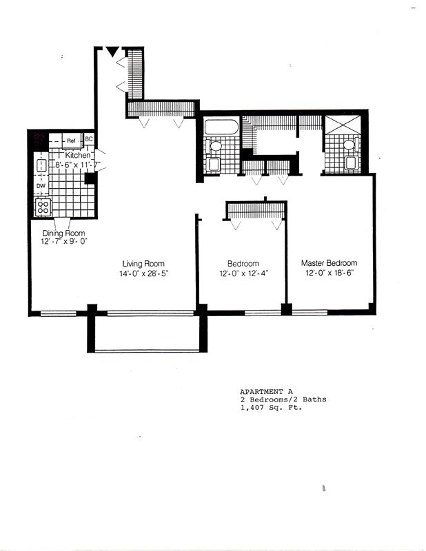 1407 - A - 2 bdrms 2 baths
