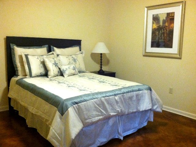 Master bedroom large enough for a king.