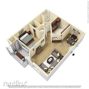 One Bedroom Floor-plan