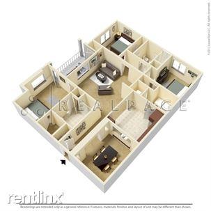 Three Bedroom Floor-plan