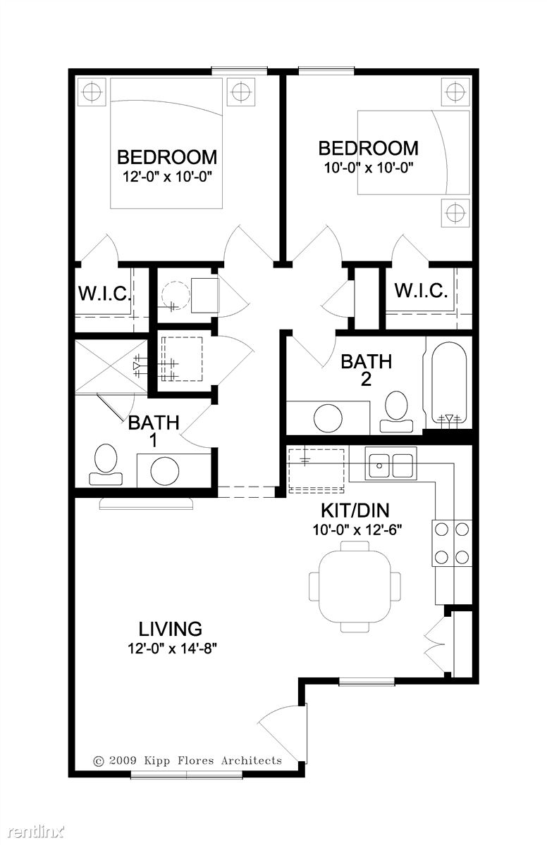 2 Bed/2 Bath Floor Plan