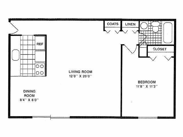 Floor plan- 1 BR
