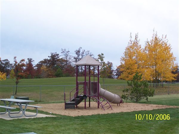 Play ground in the fall