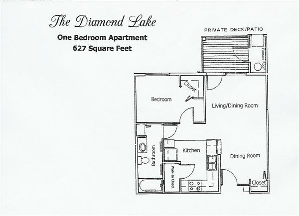 Stone Lake Manor- One Bedroom Floor Plan