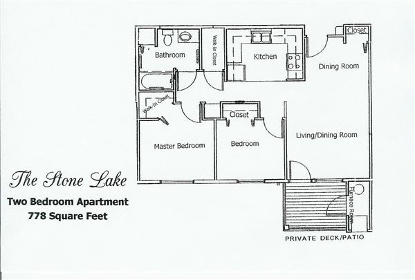 Stone Lake Manor- Two Bedroom Floor Plan