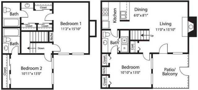 3x2.5 Town house