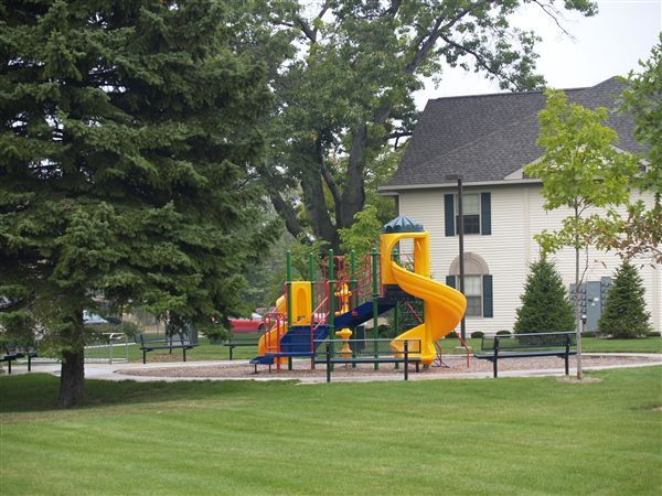 Play areas and green space.