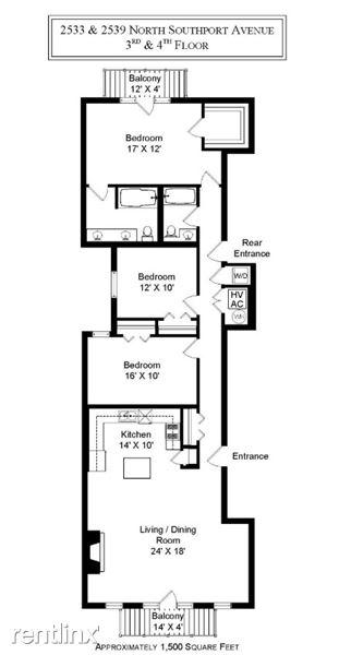 2539 southport 3 bed floorplan