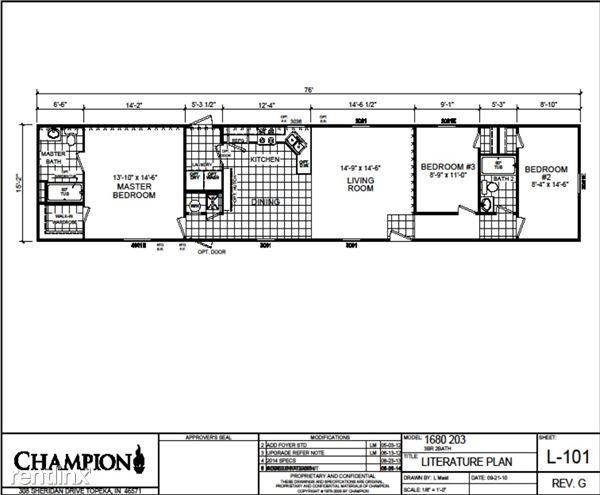 16x76 Floorplan
