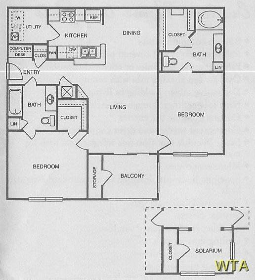 Brentwood Court Apartments - 2 bedroom