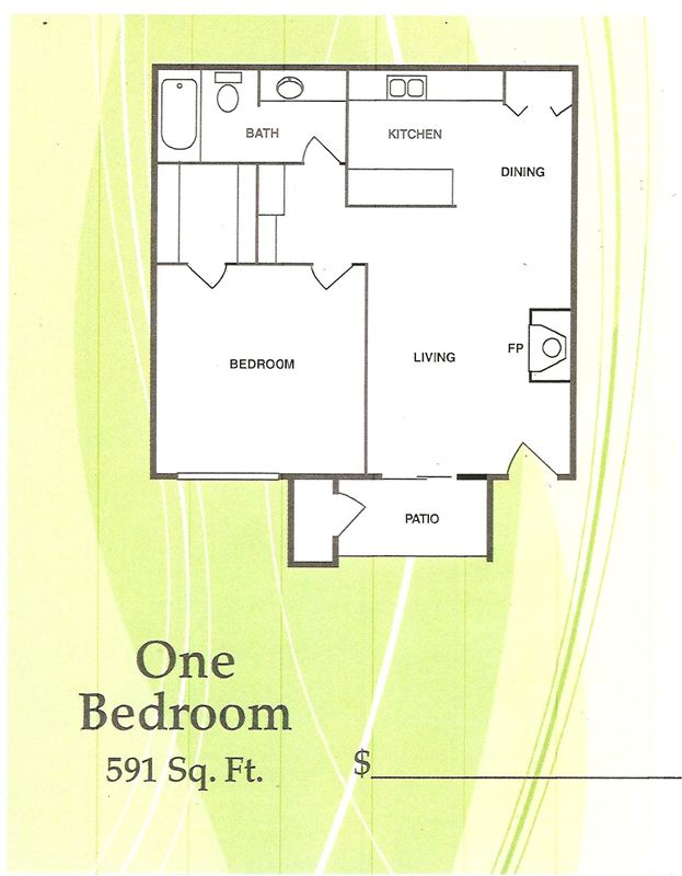 Floor Plan One Bedroom 001