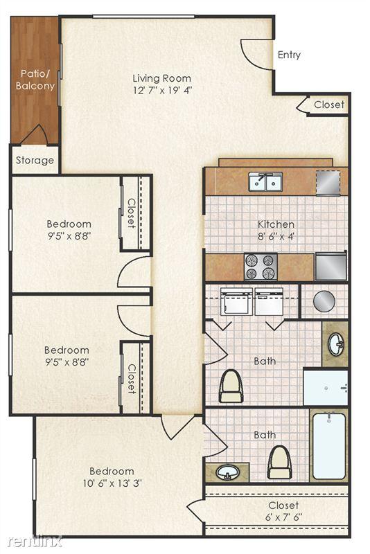 3x2  966 sq ft
