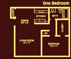 LCA 1 bedroom floorplan