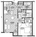 Hamburg Senior Residence- 1 Bedroom Floorplan