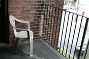 Great shared balcony with a view of Southwest Detroit